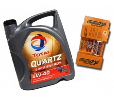 TOTAL QUARTZ ENERGY 9000 5W40 5L + Ceramizer One-Shot