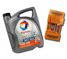 TOTAL QUARTZ 5W30 INEO MC3 5L + Ceramizer One-Shot