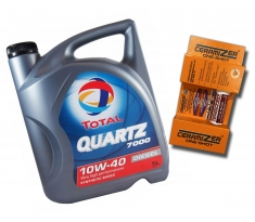 TOTAL QUARTZ 7000 Diesel 10W40 5L + Ceramizer One-Shot